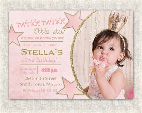 1st birthday invitations girl free template girl 1st first birthday invitation gold and pink princess invitations