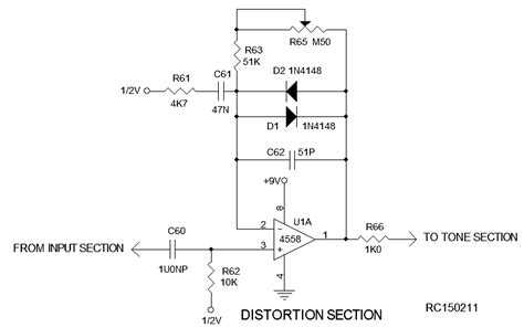 diode distortion circuit diode distortion circuit 28 images fuzznikator push pull distortion pre box add diode