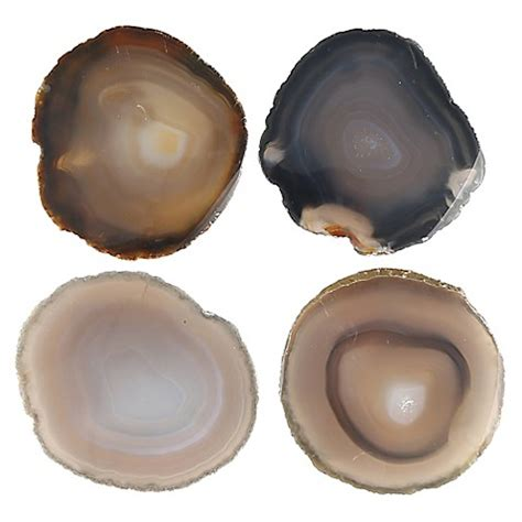 bed bath and beyond coasters thirstystone 174 neutral agate coasters set of 4 bed bath