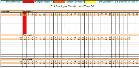 vacation calendar template 2014 8 best images about 2014 printable calendars on
