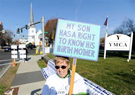 Norwalk Birth Certificate Records Demonstrators Rally In Greenwich For Adoptee Rights Stamfordadvocate