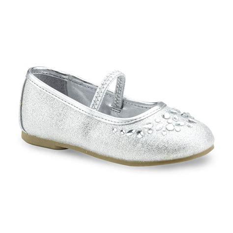 Flat Gliter Silver Rainbow wonderkids toddler s silver glitter ballet flat shoe shoes baby shoes