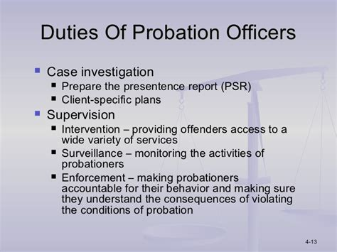 Parole Officer Definition by Ppt Chapter 4
