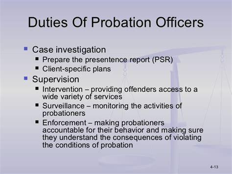 Parole Officer Duties ppt chapter 4