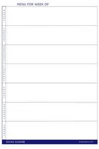 Blank Weekly Menu Template by Blank Menu Template New Calendar Template Site