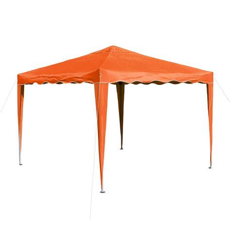 alu gartenpavillon gartenpavillon faltpavillon alu metall 3x3 meter orange