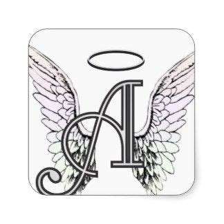 tattoo lettering with angel wings letter a with wings letter a initial monogram with angel