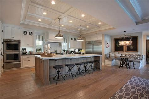 open concept layout love the dining nook would be industrial barstools transitional kitchen brandon