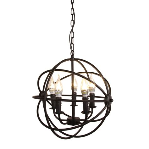 Modern White Orb Metal Chandelier Ship From Us Modern Industrial Chandelier 5 Light Metal