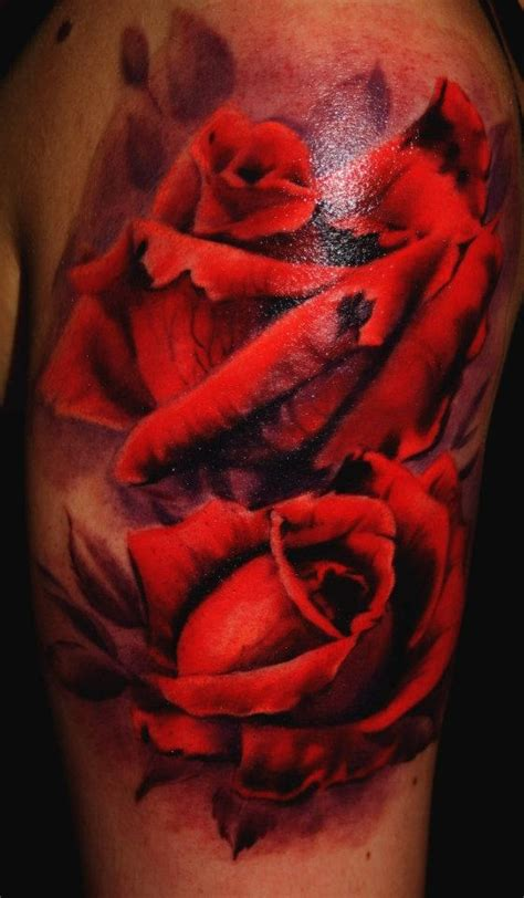 realism rose tattoo realistic by juan design of