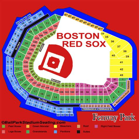 seat chart fenway park fenway park seating chart view new map 2016