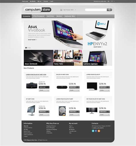 magento templates responsive responsive computers store magento theme web design