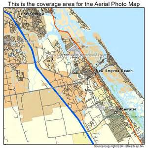 aerial photography map of new smyrna fl florida