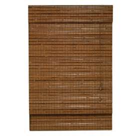 Lowes Bamboo Roman Shades - shop style selections pecan light filtering bamboo natural roman shade common 52 in actual 51