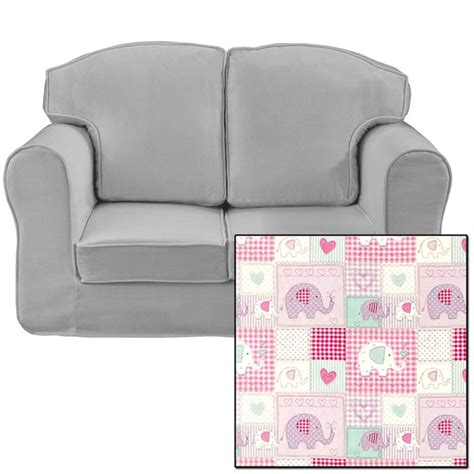 Patchwork Sofa Cover - just4kidz cover sofa in patchwork elephants