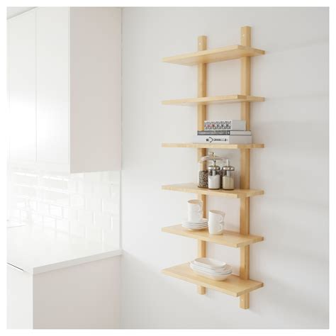 Birch Shelf by V 196 Rde Wall Shelf Birch 50x140 Cm
