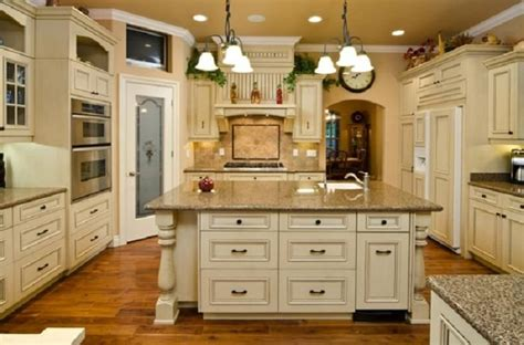 antique white country kitchen cabinets home