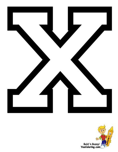 Letter X sports college alphabet coloring free alphabets