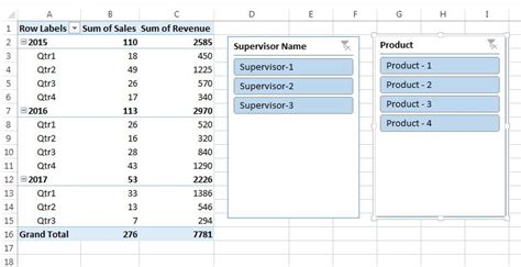 connect slicer to pivot tables different data source chapter 10 slicers in pivot table pk an excel expert