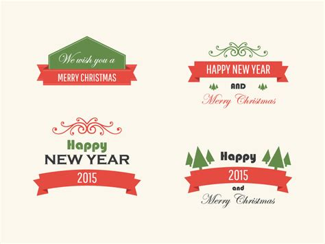 Free Vintage Vector Christmas Badges   graphberry.com