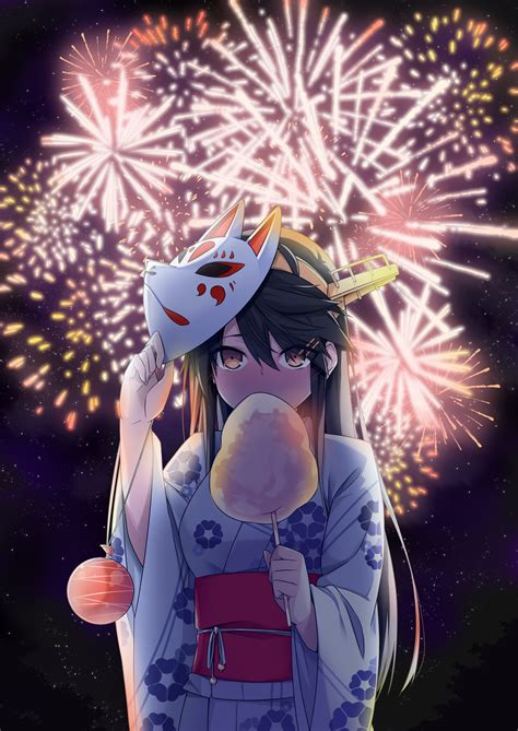 anime fireworks indonesia haruna kantai collection 1926224 zerochan