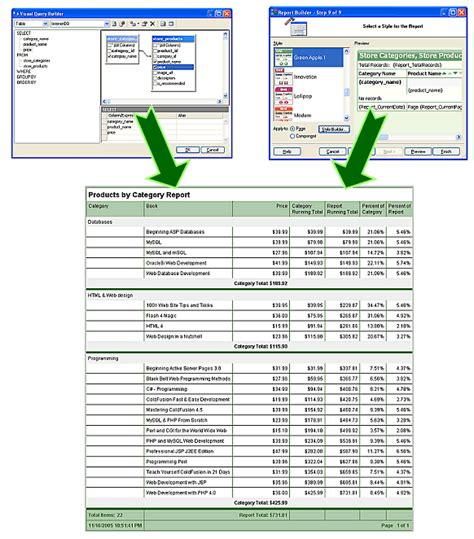 web reporting and report form