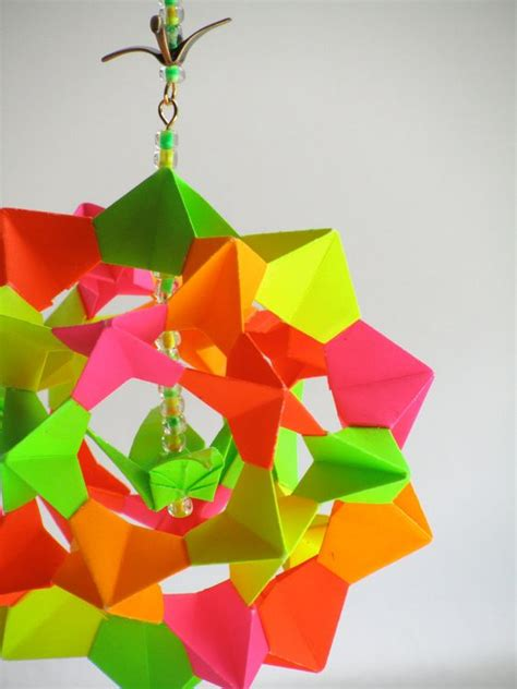 paper origami ornaments modular origami decoration home and ornaments on