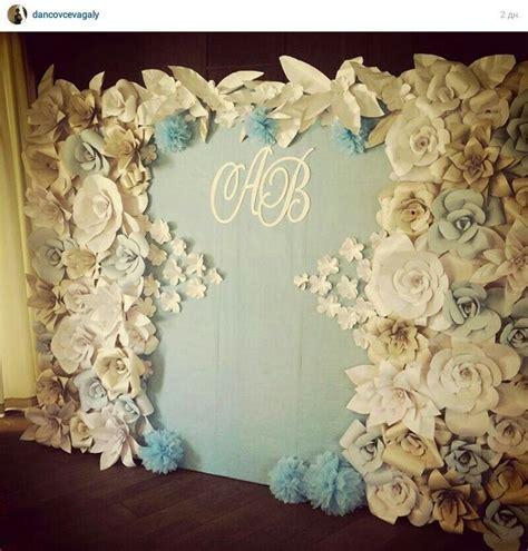 Papier Deko Hochzeit by Paper Flowers Backdrop Wedding Deko