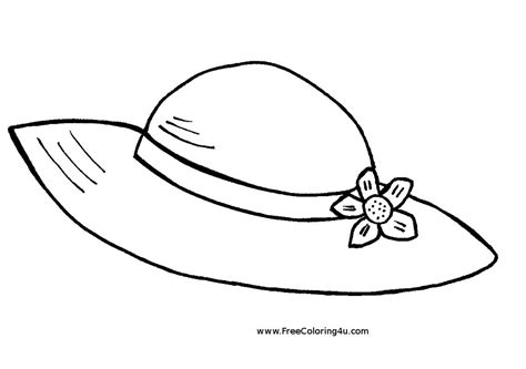 Printable Hat Coloring Page | hat coloring pages to download and print for free