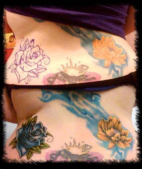 flower tattoo rework rose n flower rework tattoo picture