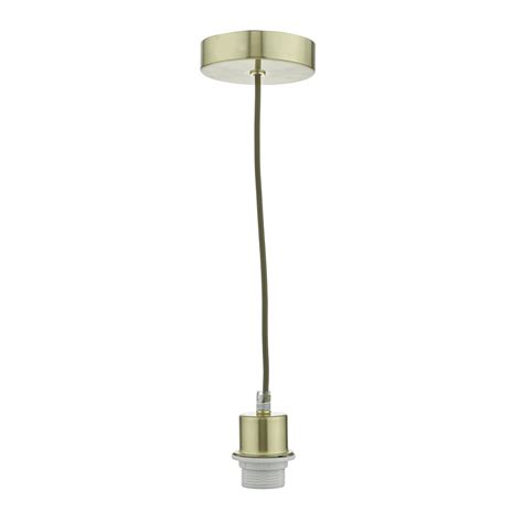 Satin Brass Clear Suspension Cable Clear Cable Lights