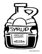 Syrup Bottle Coloring Page Pages sketch template