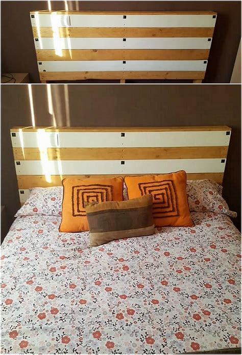 shipping pallet headboard latest furnishings made with old shipping pallets
