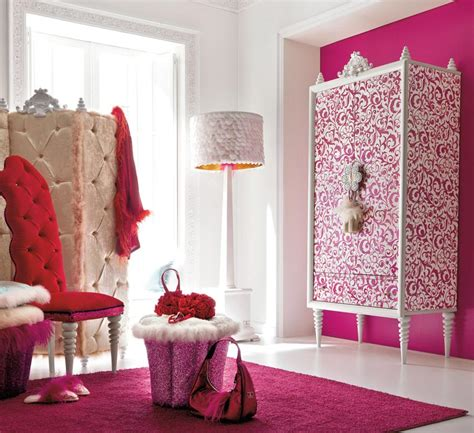 Charming And Opulent Pink Girls Room Altamoda Girl Pink Bedroom Designs