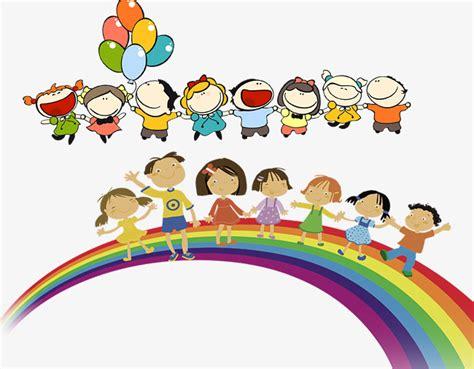 rainbow children the art 1616558334 可爱小朋友卡通素材图片免费下载 高清卡通手绘psd 千库网 图片编号7681789