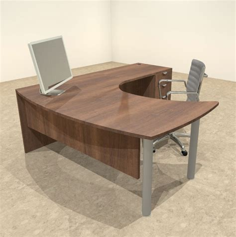 Contemporary L Shaped Desk 3pc L Shaped Modern Contemporary Executive Office Desk Set Of Con L14 Ebay