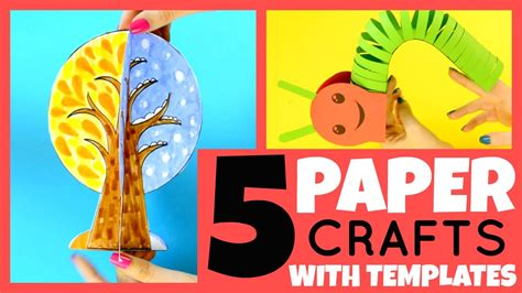 paper craft ideas for 5 5 paper crafts for with templates paper crafts