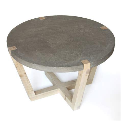 ronde salontafel beton ronde salontafel stolik met betonnen blad i gimmii magazine