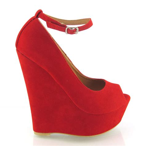 Wedges Fashion W Ch 624 high heel platform womens peep toe ankle