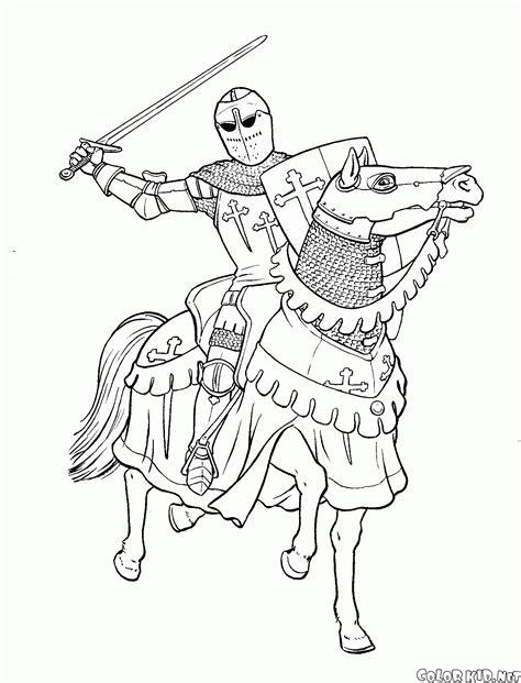 Coloriage Guerres Chevaliers Et Soldats