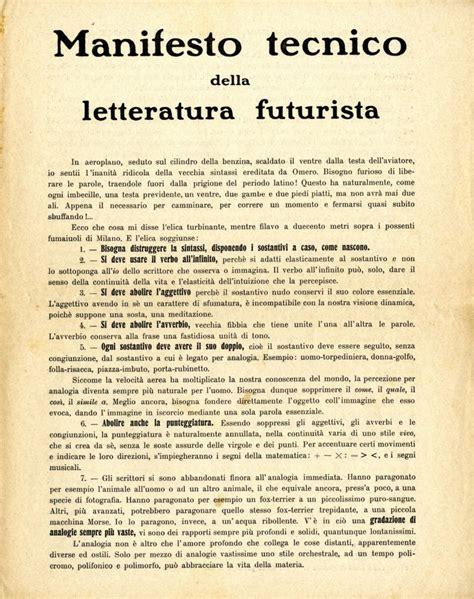 The Italian Manifesto by Technical Manifesto Of Futurist Literature Italian Futurism