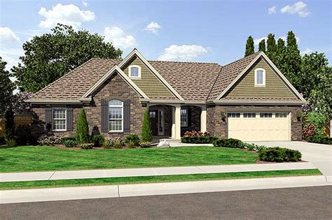 3 Bedroom Rambler Floor Plans by Traditional Style House Plan 3 Beds 2 Baths 1597 Sq Ft