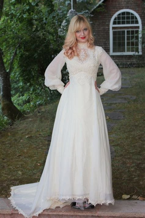 Jessica Mcclintock Bedroom Furniture by Hand Crafted Vintage 1960s 70s Wedding Dress In Silk