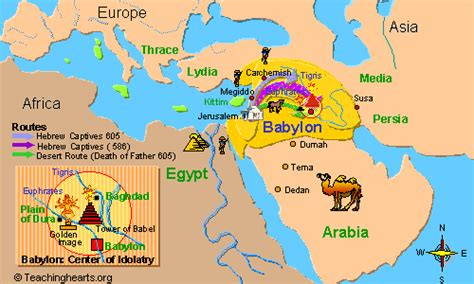 babylon and jerusalem map new nation the prophecy of