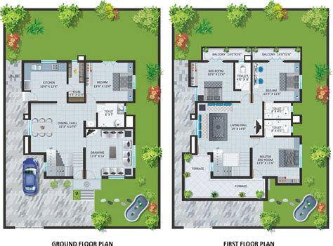Amazing Craftsman Style Bungalow Floor Plans #2: Two-Storey-Bungalow-Home-Plans-With-Swimming-Pool.jpg