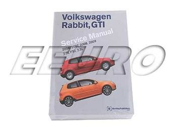 reviews volkswagen rabbit gti a5 repair manual 2006 2009 bentley publishers repair volkswagen repair manual rabbit gti a5 bentley vr09 free shipping available