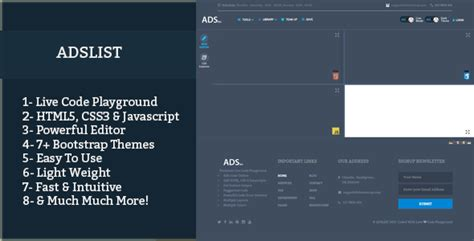 bootstrap themes with code live code playground with bootstrap themes by coderboys