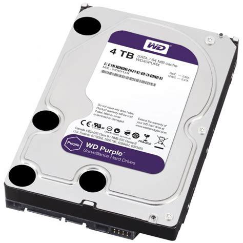 Hardisk Wd 4tb hd disk 4000gb 4tb western digital linha wd purple 24x7x365 pr 243 prio para dvr e cftv
