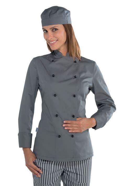 tenue cuisine femme veste cuisine chef grise v 234 tement de cuisine mylookpro