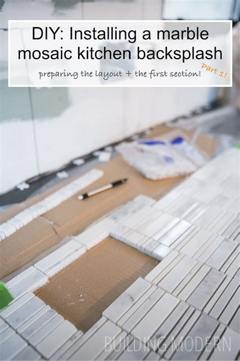 how to install mosaic backsplash how to install a carrara marble mosaic tile backsplash part 1